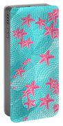 Pink Starfish Portable Battery Charger