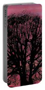 Pink Sunset Tree Portable Battery Charger
