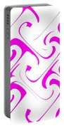 Pink Swirls Portable Battery Charger