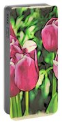 Pink Tulips Portable Battery Charger