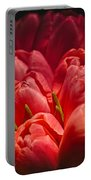 Fucshia Tulips Portable Battery Charger
