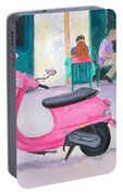 Pink Vespa Portable Battery Charger