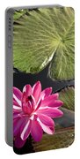 Pink Water Lily II Portable Battery Charger