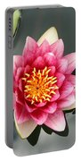 Pink Waterlily And Cloud Reflection Portable Battery Charger