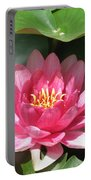 Pink Waterlily Portable Battery Charger
