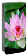 Pink Waterlily Flower Portable Battery Charger