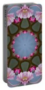 Pink Weeping Cherry Blossom Kaleidoscope Portable Battery Charger