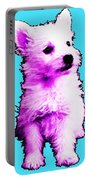 Pink Westie - West Highland Terrier Art By Sharon Cummings Portable Battery Charger