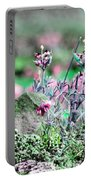 Pink Wildflowers Portable Battery Charger