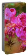 Pink Winter Roses Three Portable Battery Charger