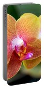 Pink Yellow Orchid Portable Battery Charger