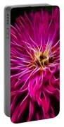 Pink Zinnia Digital Wave Portable Battery Charger