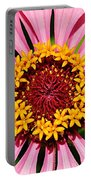 Pink Zinnia Macro Portable Battery Charger