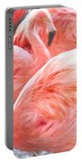Pinked Flamingos Portable Battery Charger