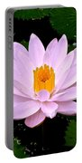 Pinkish Lotus Flower Portable Battery Charger