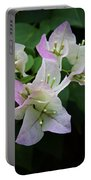 Pinky White Bougainvillea Portable Battery Charger