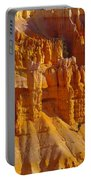 Pinnicles At Sunset Point Bryce Canyon National Park Portable Battery Charger by Jeff Swan