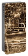Pioneer Cabin In Sepia 1 Portable Battery Charger