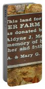 Pioneer Farm Park Plaque At Andersonville Georgia Portable Battery Charger