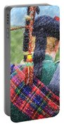 Piper In Red Macpherson Tartan Portable Battery Charger