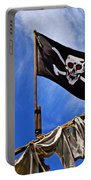 Pirate Flag On Ships Mast Portable Battery Charger