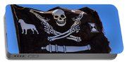 Pirate Flag With Skull And Pistols Portable Battery Charger