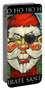 Pirate Santa Poster Portable Battery Charger
