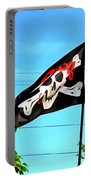 Pirate Ship Flag Of The Skull And Crossbones Portable Battery Charger