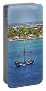 Pirate Ship In Cozumel Portable Battery Charger