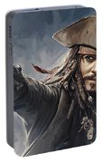 Pirates Of The Caribbean Johnny Depp Artwork 2 Portable Battery Charger