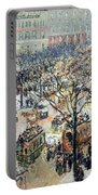 Pissarro's Boulevard Des Italiens In Morning Sunlight Portable Battery Charger