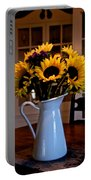 Pitcher Of Sunflowers Portable Battery Charger