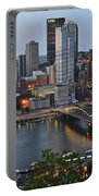 Pittsburgh Before Sunset Portable Battery Charger