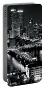 Pittsburgh Black And White  Portable Battery Charger