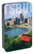 Pittsburgh Digital Painting Portable Battery Charger