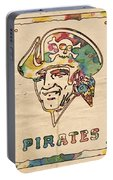 Pittsburgh Pirates Vintage Art Portable Battery Charger