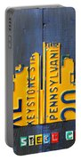 Pittsburgh Skyline License Plate Art Portable Battery Charger