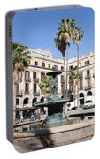Placa Reial In Barcelona Portable Battery Charger