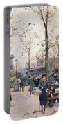 Place De La Bastille Paris Portable Battery Charger by Eugene Galien-Laloue