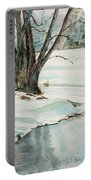 Placid Winter Morning Portable Battery Charger