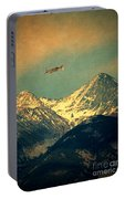 Plane Flying Over Mountains Portable Battery Charger