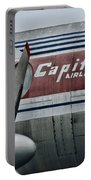 Plane Vintage Capital Airlines Portable Battery Charger by Paul Ward