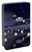 Planets Of The Solar System Surrounded Portable Battery Charger