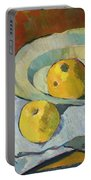 Plate Of Apples Portable Battery Charger by Paul Serusier