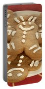 Plateful Of Gingerbread Cookies Portable Battery Charger by Juli Scalzi