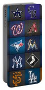 Play Ball Recycled Vintage Baseball Team Logo License Plate Art Portable Battery Charger