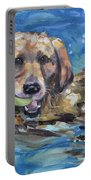 Playful Retriever Portable Battery Charger