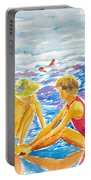 Playing On The Beach Portable Battery Charger