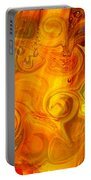 Playing With Bubbles Textured Abstract Artwork By Omaste Witkows Portable Battery Charger by Omaste Witkowski