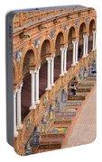 Plaza De Espana Colonnade In Seville Portable Battery Charger